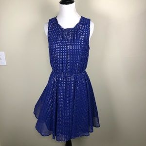 Madison Jules blue gold dress medium